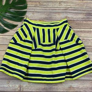 Dare to Dream yellow striped Nimbin mini skirt